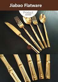 beautiful unique cutlery set with bamboo handle handled excellent