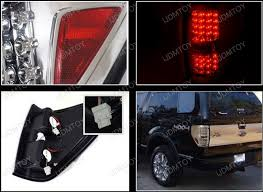 2012 ford f150 tail lights 09 12 ford f150 chrome housing clear lens led tail lights