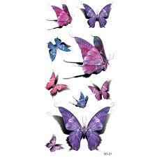tatoo 3d purple designs pastel 3d butterfly