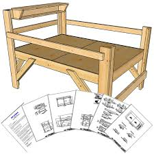 Plans For Loft Beds Free by Full Size Loft Bed Plans Short Height Op Loftbed