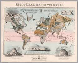 Map The World by Geological Map Of The World David Rumsey Historical Map Collection