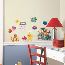 pokemon peel stick wall decals york wall coverings toys