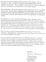 Sample Letter Of Recommendation From Teacher My Profile Kami A Spatzek