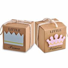 compare prices on prince baby shower online shopping buy low little prince princess brown kraft paper baby shower birthday party favors gift box candy boxes with