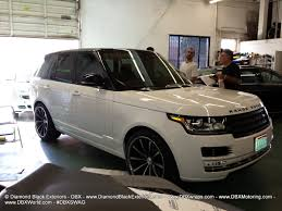 white wrapped range rover 2013 range rover hse two tone u2013 gloss black roof diamond black