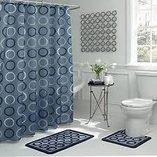 Walmart Bathroom Rug Sets Walmart Shower Curtain Bathroom Rug Set Blue Bathroom Pinterest