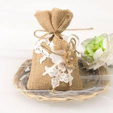 vintage wedding favors burlap lace favor bags rustic vintage wedding gift sachets ewfb063
