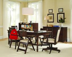 samuel lawrence furniture homework 8 piece office set in dark cherry