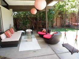 Outdoor Livingroom by Eichler Modern Backyard W Outdoor Living Room Laura Lippay Flickr
