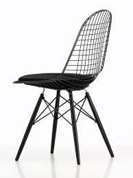 Esszimmerstuhl Tom Schwarz Dkw 5 Wire Chair Stuhl Sitz Gepolstert Vitra Einrichten Design De