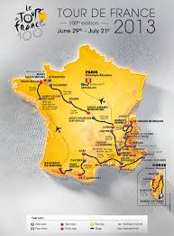 Tour De France Route Map by Tour De France 2013 Supersport Cycling