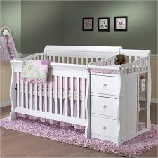 White Crib With Changing Table Sorelle Tuscany 4 In 1 Convertible Crib And Changer Combo In White