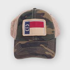 North Carolina Flag North Carolina Flag Hat Camouflage Krazy Mikez