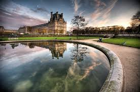 louvre museum at sunset wallpapers other louvre museum paris dual wallpaper for hd 16 9 high