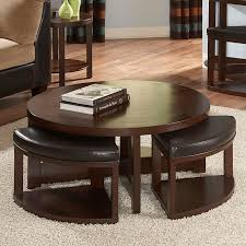 Living Room Table With Storage Coffee Table Round Leather Coffee Table Ottoman Modern Ottomans