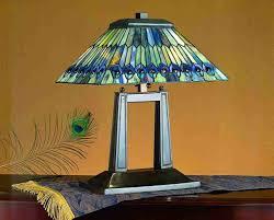 Tiffany Table Lamps Peacock Lamps Peacock Decor Ideas