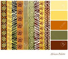 Colour Style by African Style Patterns With Complimentary Colour Swatches Royalty