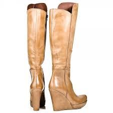 womens knee boots uk daniel daniel beige wisdom womens knee high wedge boot daniel