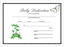 baby dedication certificate 9 download free documents in pdf