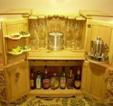 Oak Bar Cabinet with Travel Trunk Style Wine And Cocktail Cabinet Oak And Brass Bound
