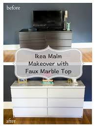 ikea malm hacks how to makeover your ikea malm dresser with a marble top a home to