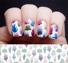 succulent plant pattern nail art inspired by lindsay nohl