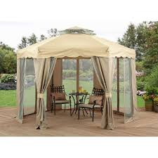 Outdoor Patio Canopy Gazebo by Outdoor Gazebo Canopy 12x12 Patio Tent Curtains Steel Framed