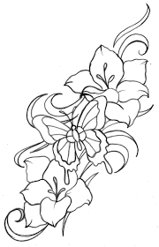 geometric flower tattoos design