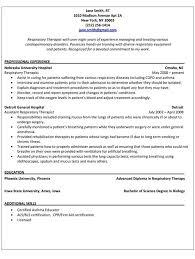Sample Counseling Resume by Respiratory Therapist Resume Sample Jennywashere Com