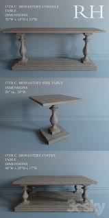 restoration hardware 17 c monastery table 3d models table restoration hardware 17th c monastery