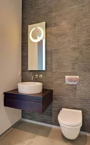 Decorating Powder Rooms Small White Single Sink Wooden Two Doors Vanities Small Powder Room