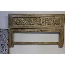 Carved Wooden Headboards Carved Wooden Headboard Chairish