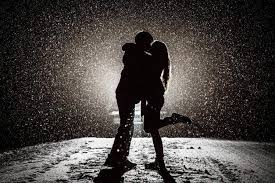 dark love pair wallpapers love kissing snow monochrome silhouette winter lights