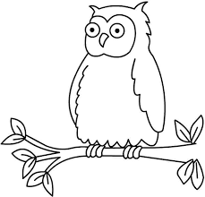 owl coloring pages for kids printable mewarnai clip art library
