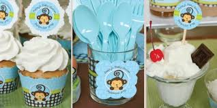 baby shower centerpieces for boy monkey boy baby shower decorations theme babyshowerstuff