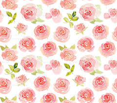 roses watercolor seamless pattern in blue gold and red shabby chic