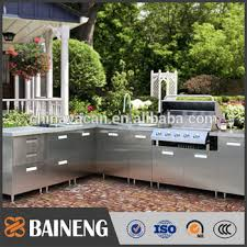 Outdoor Stainless Steel Kitchen - 304 316 stainless steel kitchen cabinet outdoor metal kitchen