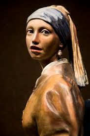 girl with the pearl earring painting girl with pearl earrings 3d sculpture of the vermeer