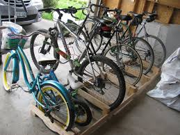 Plans For Garages by Garage Free Standing Unfinished Wooden Vertical Bike Rack Storage