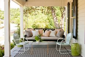 Outdoor Chevron Rug Chevron Print Rug Transitional Porch Southern Living