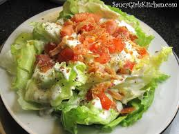 wedge salad with homemade blue cheese dressing great food it u0027s