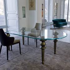 oval glass dining table custom glass dining tables table design style with glass dining