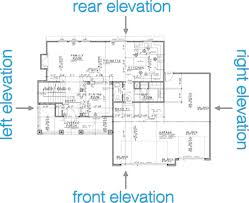 how to read house plans elevations
