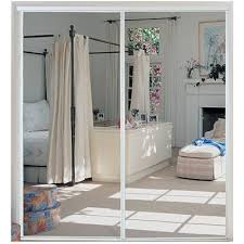 Stanley Mirrored Closet Doors Stanley Home Decor By Pass Sliding Mirror Door Bright White 47 X