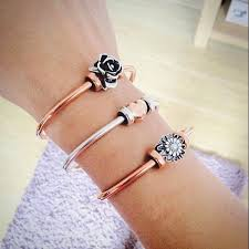 silver bead bangle bracelet images 592 best jewellery troll beads and bracelet 39 s images jpg
