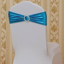 teal chair sashes metallic gold silver spandex lycra chair sashes bands royal blue
