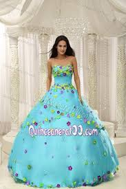baby blue quinceanera dresses strapless baby blue dresses for 15 with colorful made flowers