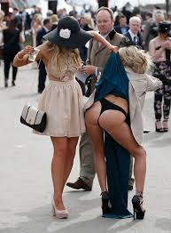 aintree ladies day crowds steal attention from the races with wild