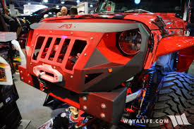red jeep wrangler unlimited 2016 sema skyjacker red jeep jk wrangler unlimited