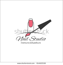 nail art studio template logo stock vector 614622158 shutterstock